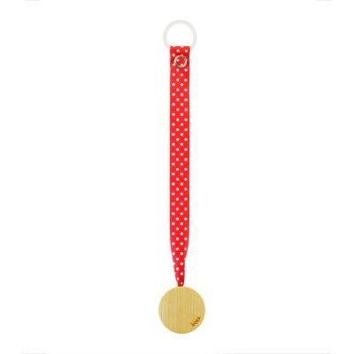 Arboreka Boka Pacifier Holder - Red with Polka Dots