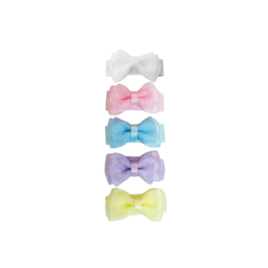 Baby Wisp Small Snap Chic 5pk Perfect Pastels (BW1503)