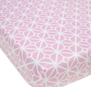 CoCalo Mix & Match Fitted Sheet - Audrey Lattice