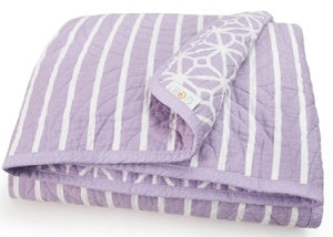 CoCalo Mix & Match Lattice Reversible Coverlet - Violet Lavender