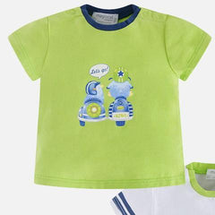 Mayoral Baby Graphic Shirt Kiwi/White 1pk 1004