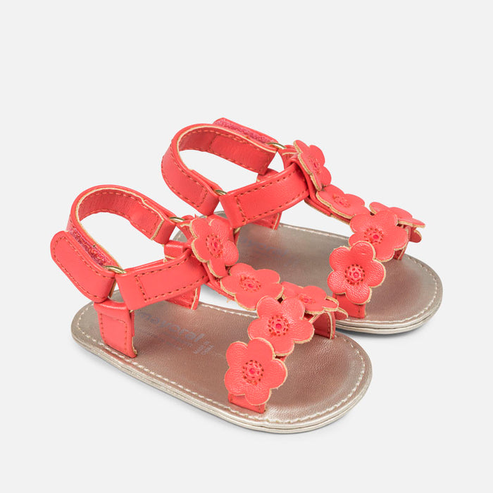 Mayoral Baby Sandals Coral 9813