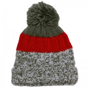 Calikids Boys Knit Toque - Nature Red