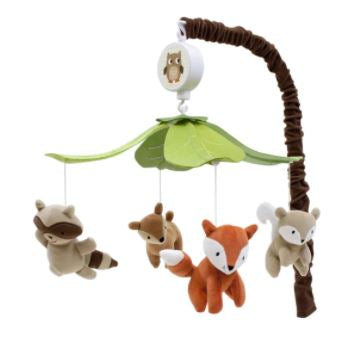 Lambs & Ivy Musical Baby Crib Mobile - Woodland Tales Multicolor Forest Animals 582018