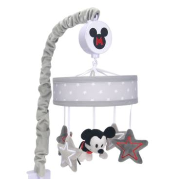 Lambs & Ivy Disney Baby Magical Mickey Mouse Musical Baby Crib Mobile - Gray 598018