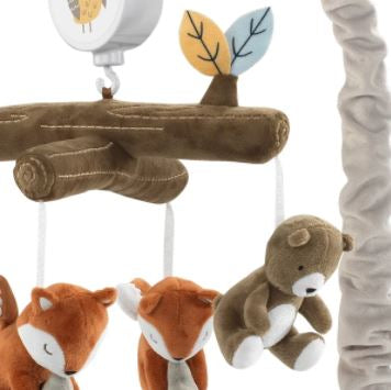 Lambs & Ivy Sierra Sky Brown Bear/Fox Musical Baby Crib Mobile Soother Toy 887018
