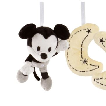 Lambs & Ivy Disney Baby Mickey Mouse Gray/Yellow Musical Baby Crib Mobile 810018