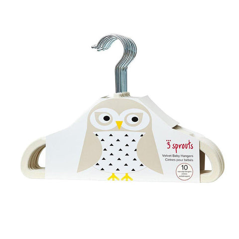 3 Sprouts Hanger - Owl - CanaBee Baby