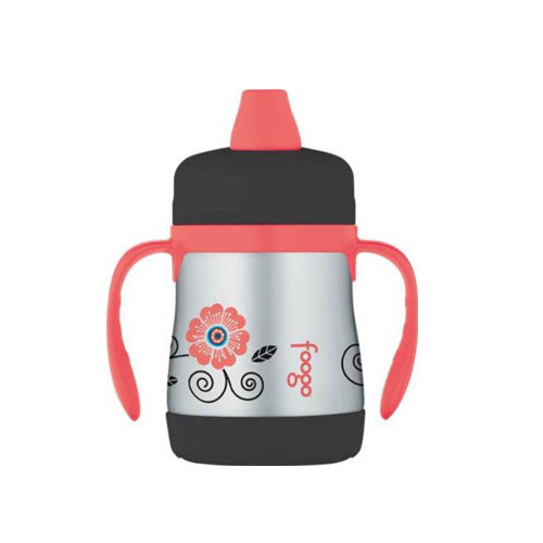 Thermos Foogo Stainless Steel Double Wall Sippy Cup Floral 7oz
