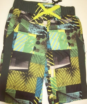 Boys Swim Short-Charcoal Combo