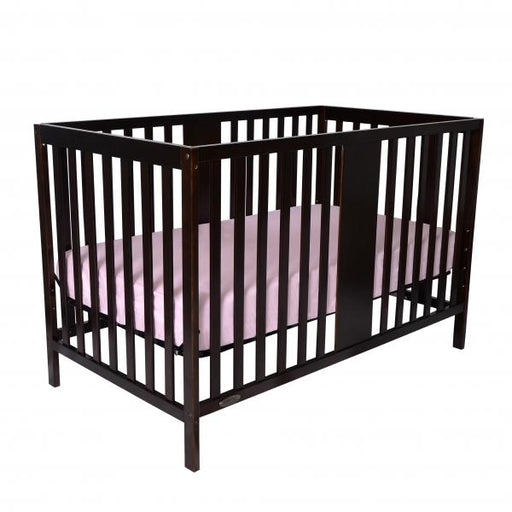 Kidiway William 4-in-1 Convertible Crib - Java/Brown (Ajax Pick up Only)