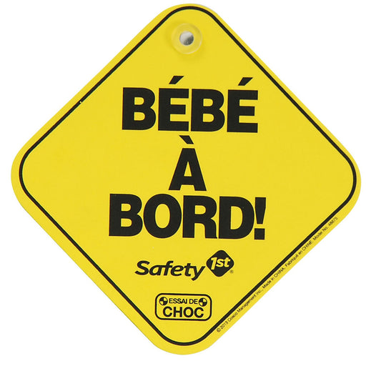 Safety 1st Baby on Board Sign (French) 48875