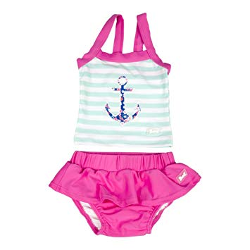 Baby Banz 2pc Swimsuit Girls Anchor Tank