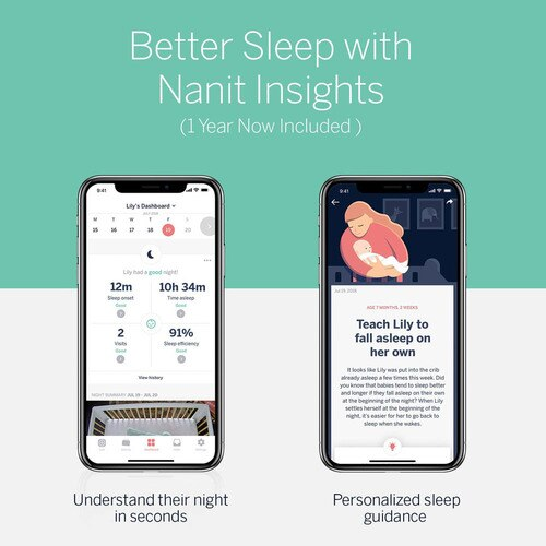 Nanit Plus Camera & Wall Mount Monitor with Sleep Tracking