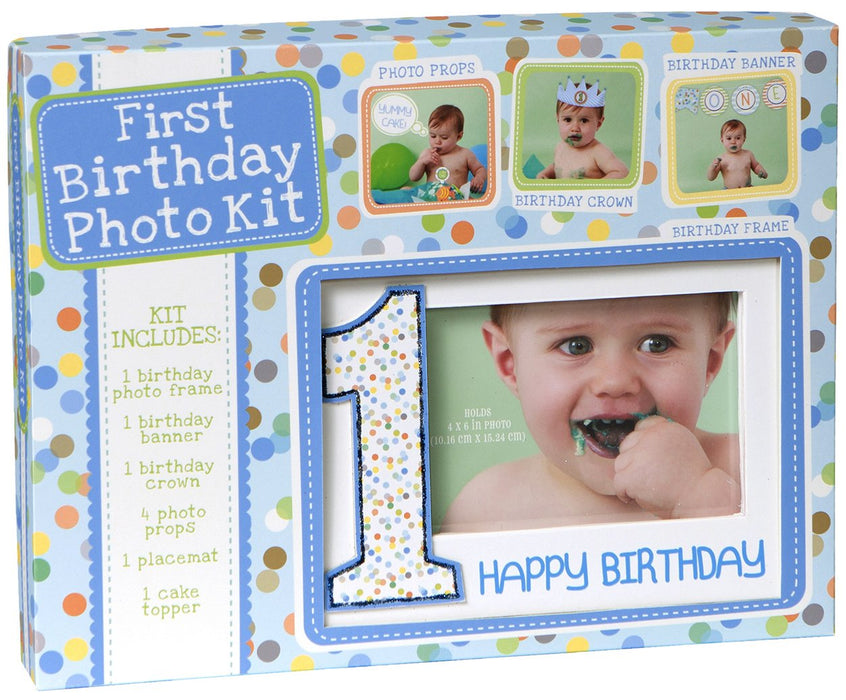 C.R.Gibson Carter's First Birthday Boy Photo Kit Frame