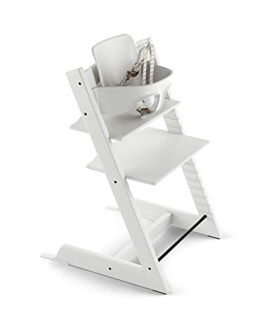 Stokke Tripp Trapp Highchair with Babyset & Harness White