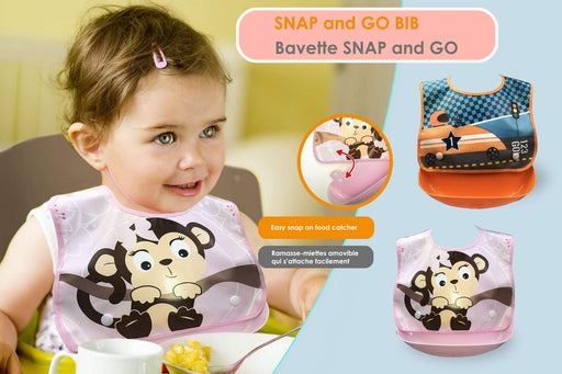 Petite Creations Bib Snap Tray Monkey BT352