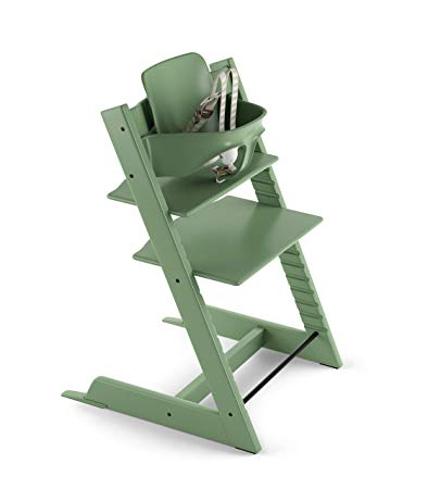 Stokke Tripp Trapp Highchair with Babyset & Harness Moss Green
