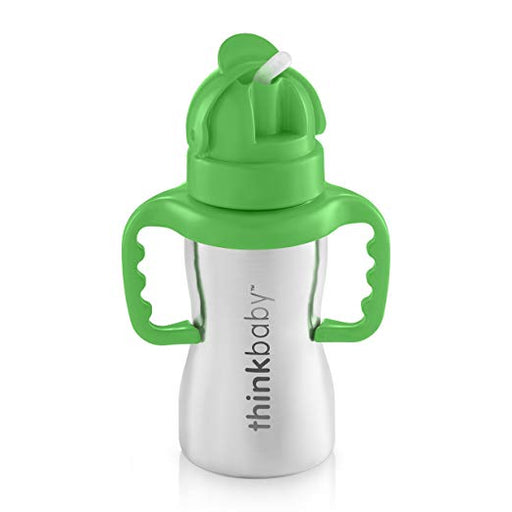 Thinkbaby Straw Cup Stainless Green 9oz