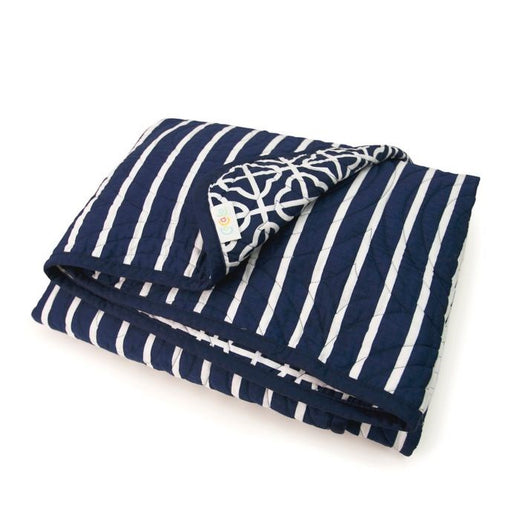 CoCalo Mix & Match Lattice Reversible Coverlet Connor Navy