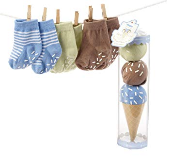 Baby Aspen Sweet Feet Blue 3pc Socks