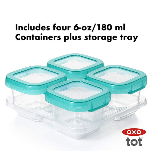 Oxo Baby Blocks Teal 6oz