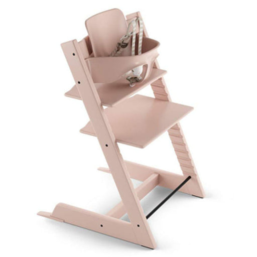 Stokke Tripp Trapp Highchair with Babyset & Harness Serene Pink