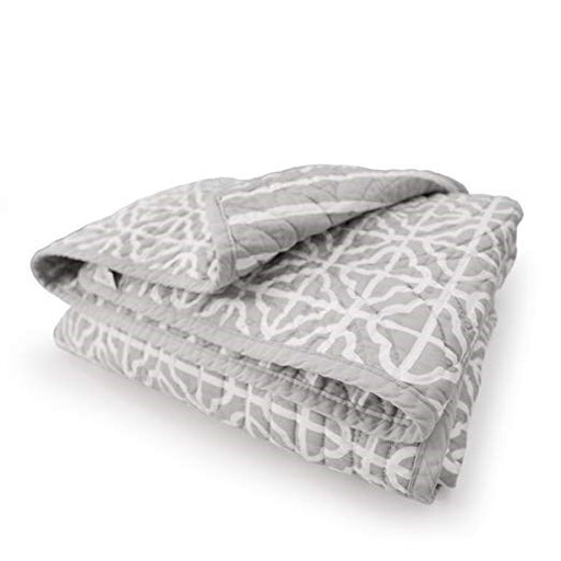 CoCalo Mix & Match Lattice Reversible Coverlet Julian Grey