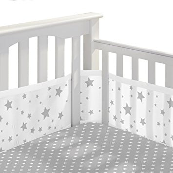 Breathable Baby Printed Liner Star Light White and Gray 12423