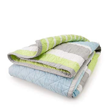 CoCalo Mix & Match Reversible Coverlet Candy Stripe