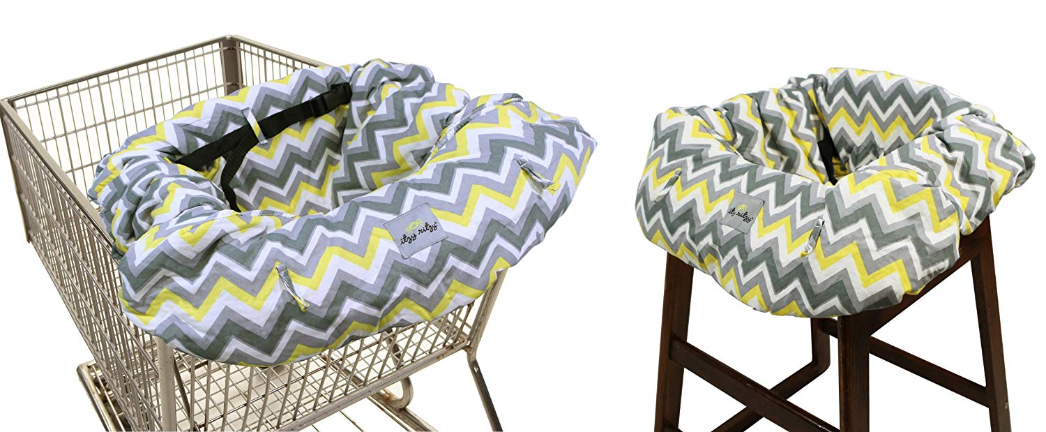 Itzy Ritzy Ritzy Sitzy Shopping Cart and HighChair Cover - Sunshine Chevron