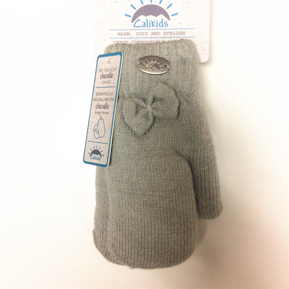 Calikids Knitted Mitten W1822B Grey