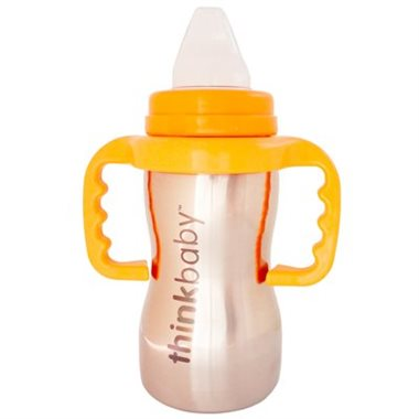 Thinkbaby Sippy Cup Stainless Steel 9oz Orange