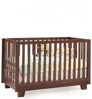 Kidiway Modern Collection 4-in-1 Convertible Crib - Java (Ajax Pick-up Only)