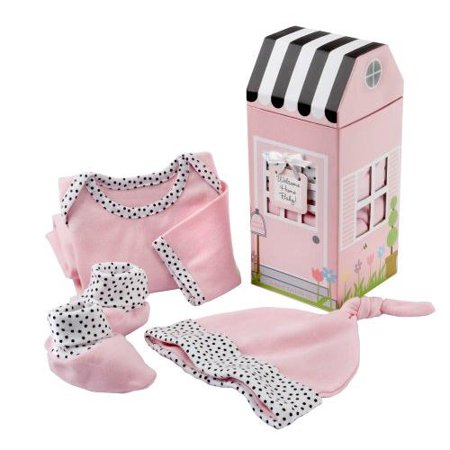 Baby Aspen Welcome Home/Take me  Home 3pc 0-6m Pink