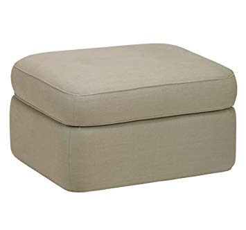 Dwell Savoy Glider with Ottoman Linen NaturaL