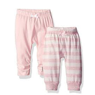 Kushies Girl Pant Solid Pink L1579 1pk