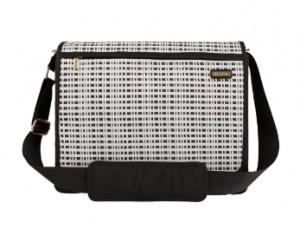 JJ Cole All-Around Diaper Bag - Black & Ivory