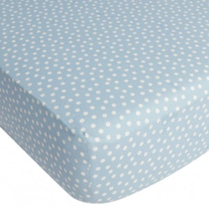 CoCalo Collection Dottie Fitted Sheet - Aqua