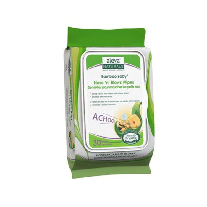 Aleva Bamboo Nose 'n' Blows Wipes 30pk