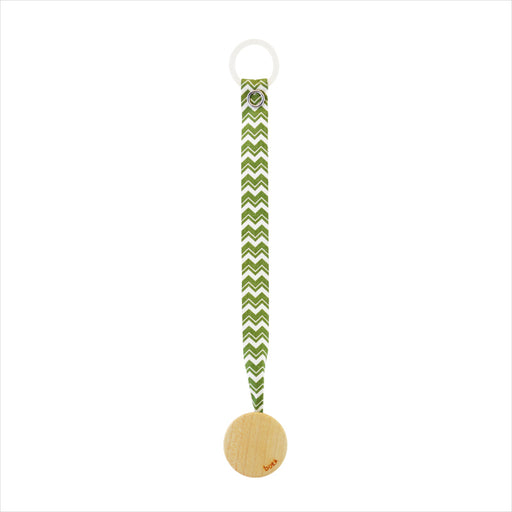 Arboreka Boka Pacifier Holder - Green Chevron