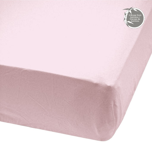 Perlim Pin Pin Crib Fitted Sheet Bamboo Rose BB20
