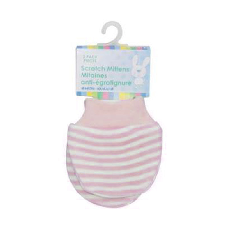 Honey Bunny Scratch Mittens 2pk - CanaBee Baby
