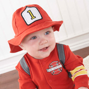 Baby Aspen Big Deamzzz Baby Firefighter Gift Box Set 0-6m