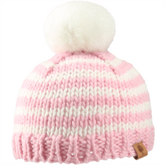 Bedford Road Knitted Hat Pom Pom Pink - CanaBee Baby