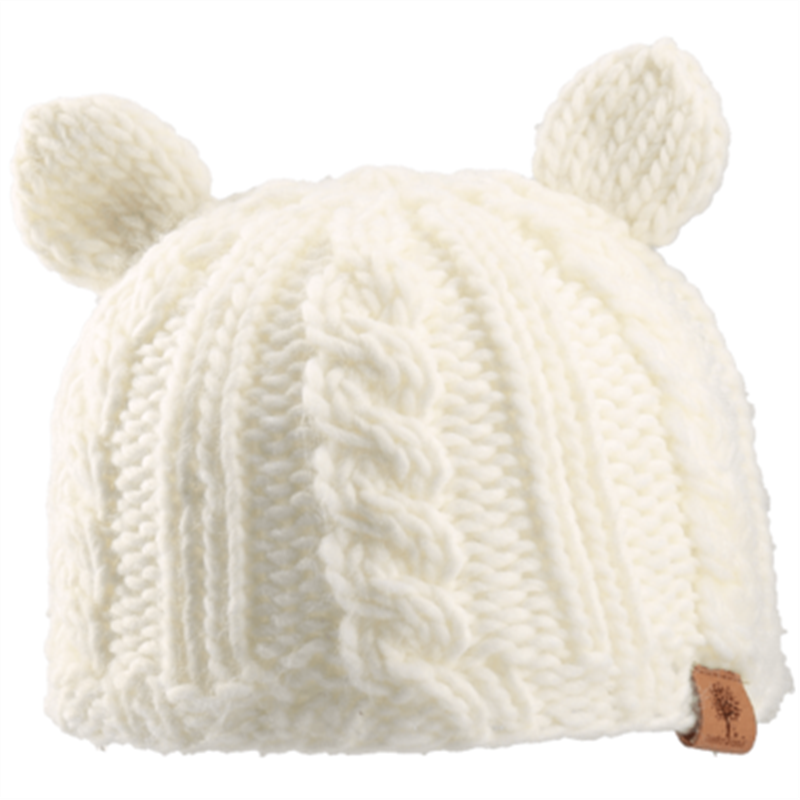 Bedford Road Knitted Hat With Ears Off White - CanaBee Baby