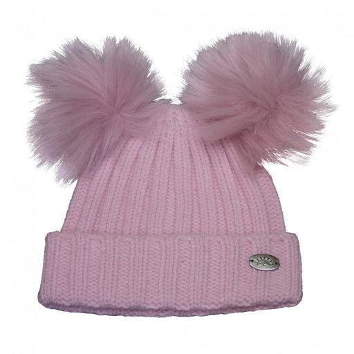 Calikids Hat 2 Pom W1824 Pink Infant