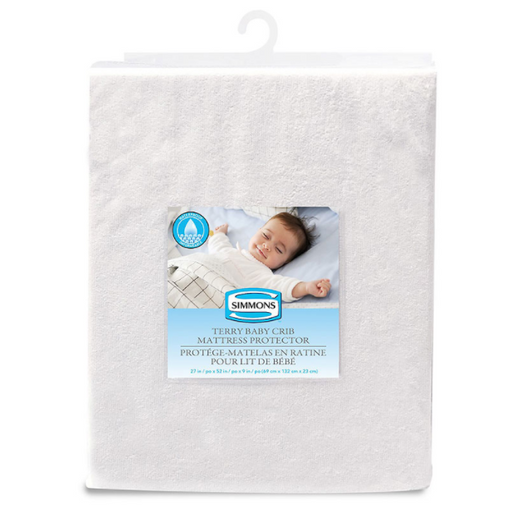 Simmons Terry Waterproof Crib Mattress Protector 10152