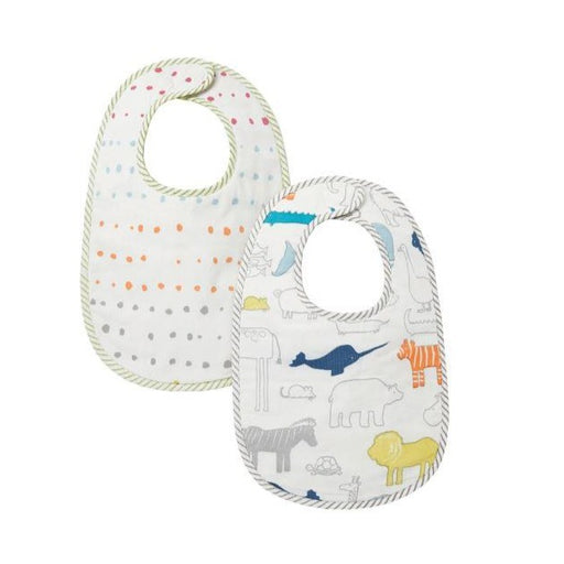 Pehr Bib Set of 2 - Noah's Ark & Painted Dots