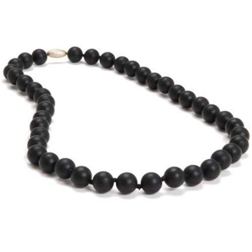 Chewbeads Jane Teething Necklace - Black - CanaBee Baby